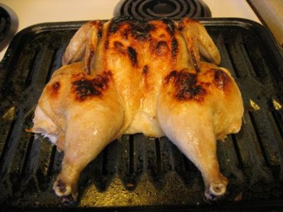 BROILED, BUTTERFLIED CHICKEN